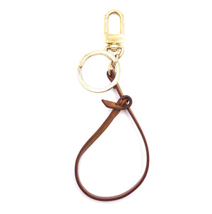 Louis Vuitton Gold Natural Vachetta Leather Key Chain Charm