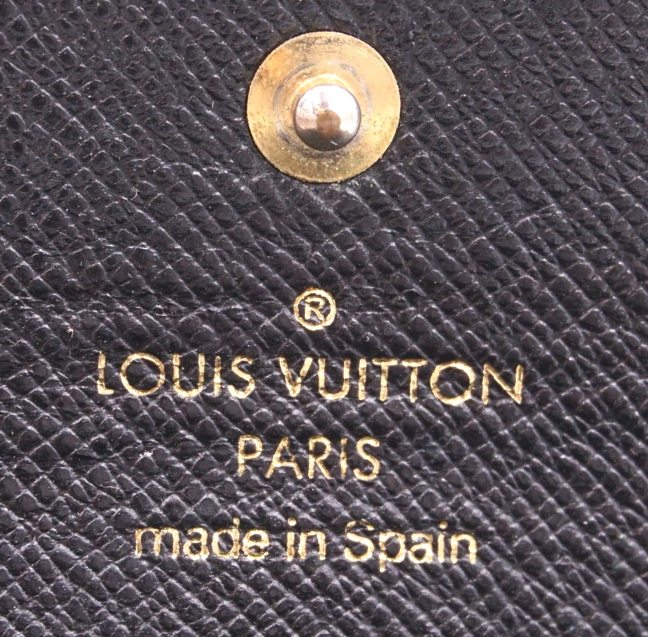 Louis Vuitton Black Epi Trifold 6 Ring Key Holder
