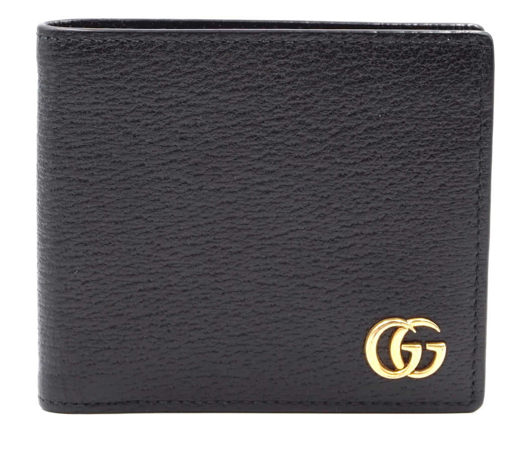 Gucci Black Marmont GG Bifold Leather Wallet
