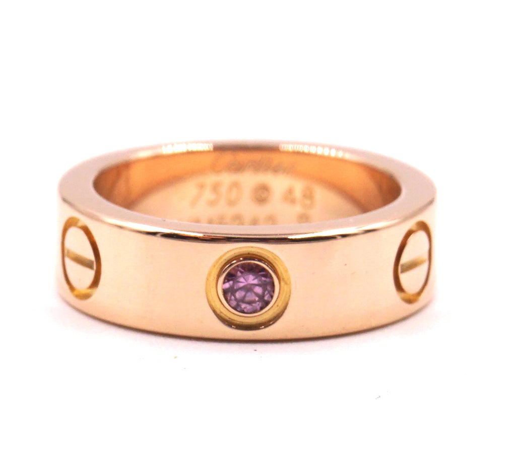 Cartier 18k 750 Sapphire 1P Size 48 Ring