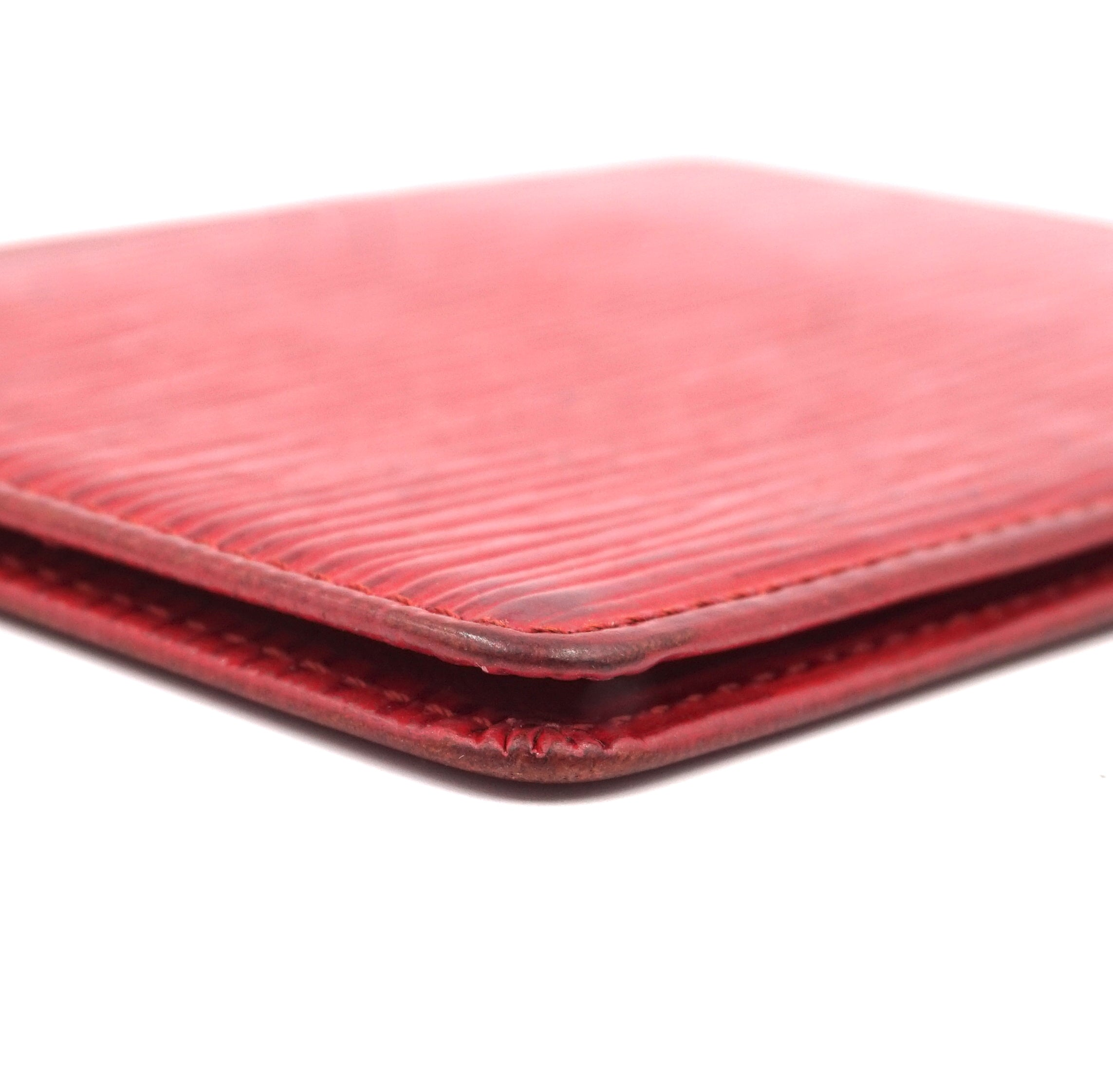 Louis Vuitton Red Epi Leather Bifold Card Case