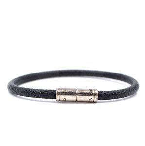 Louis Vuitton Keep It Bracelet Size 18 Damier Graphite Silver