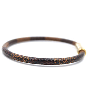 Louis Vuitton Damier Ebene Keep It Bracelet Size 18