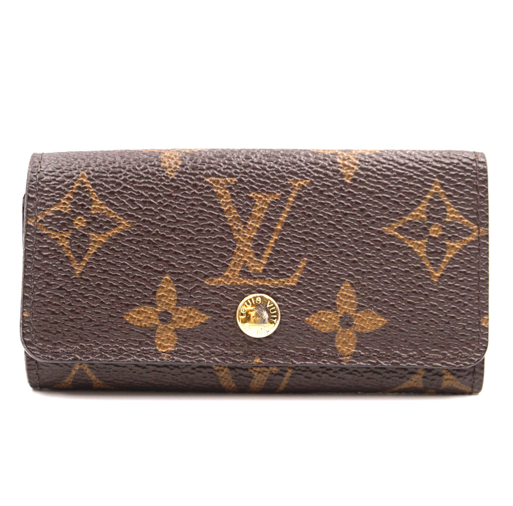 Louis Vuitton Monogram Trifold 4 Ring Key Holder