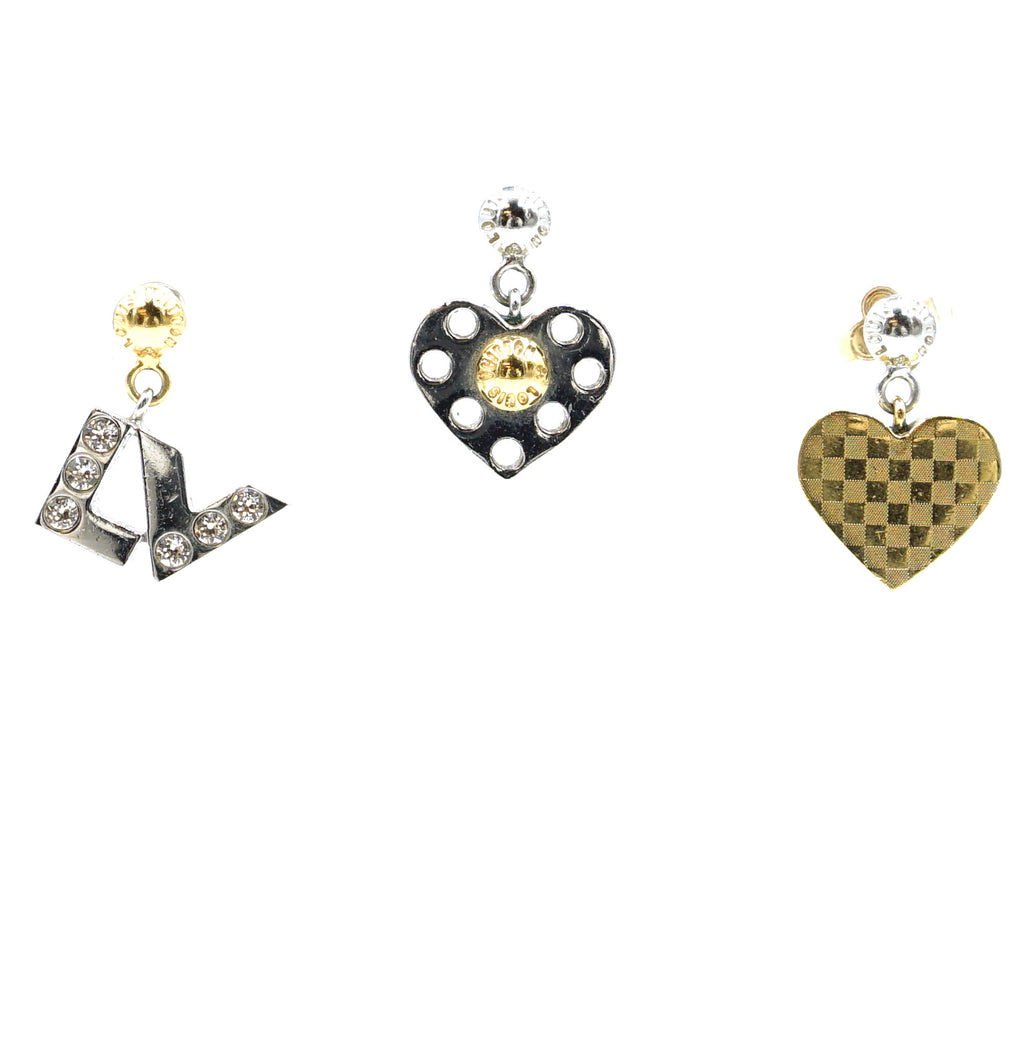 Louis Vuitton Pierced Set Of 3 Earrings