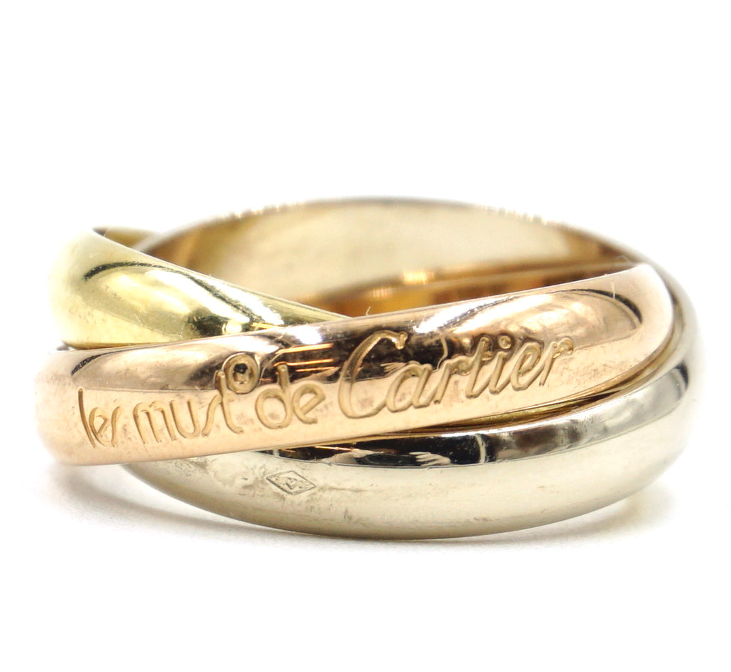 Cartier 18k 750 Trinity Ring Size 50