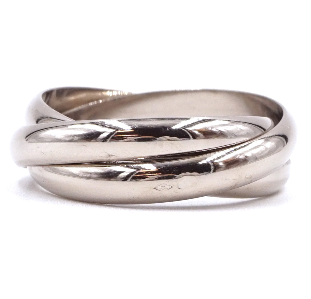 Cartier 18k 750 Trinity All White Gold Ring