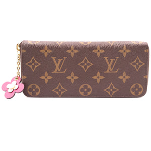Louis Vuitton Monogram Flowers Zippy Long Wallet