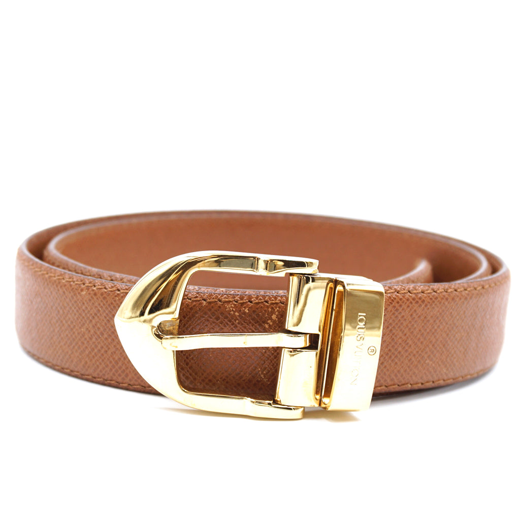 Louis Vuitton Brown Leather Vintage Belt Size 85/34