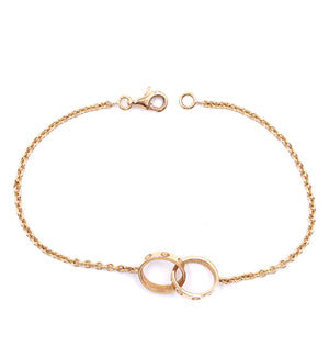 Cartier 18k 750 Love Charm Chain Bracelet