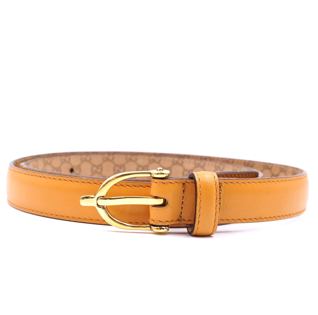 Gucci Gold Marmont Buckle Size 90 36 Leather Belt