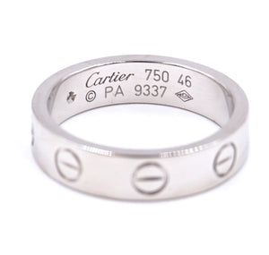 Cartier 18k 750 1P Diamond Love Size 46