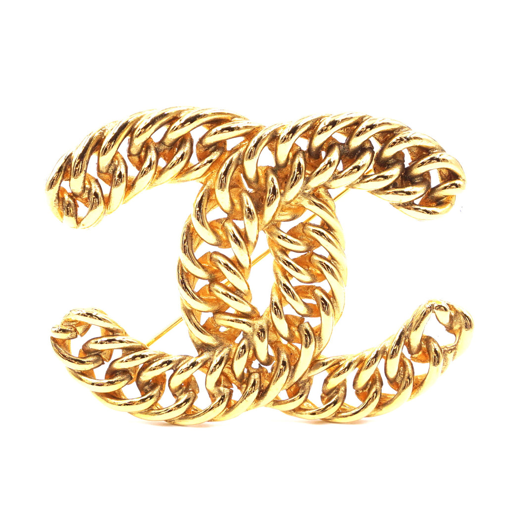 Chanel Gold CC Chain Hardware Brooch