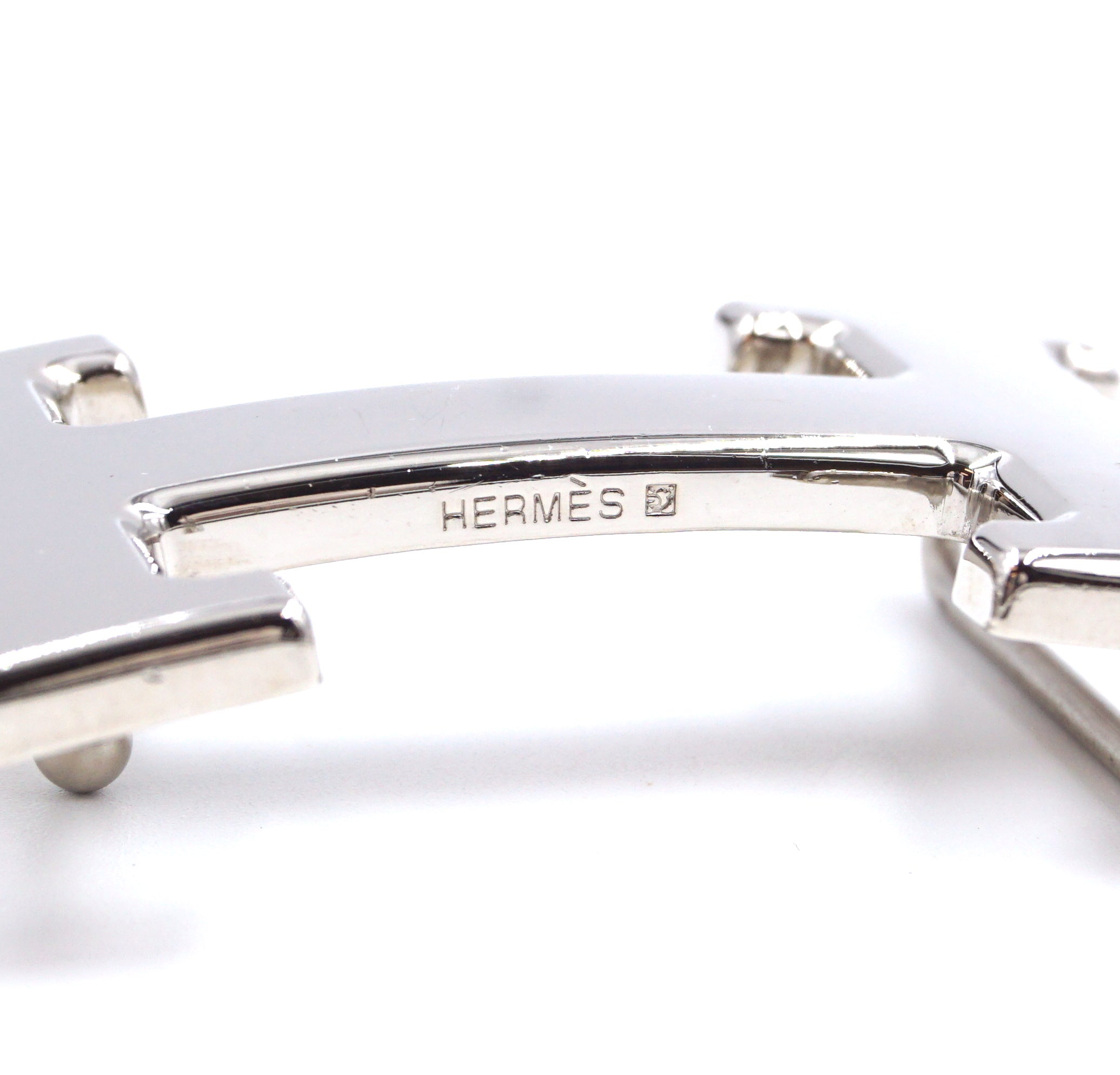 Hermès 32mm Silver H Reversible Leather Size 75 Belt