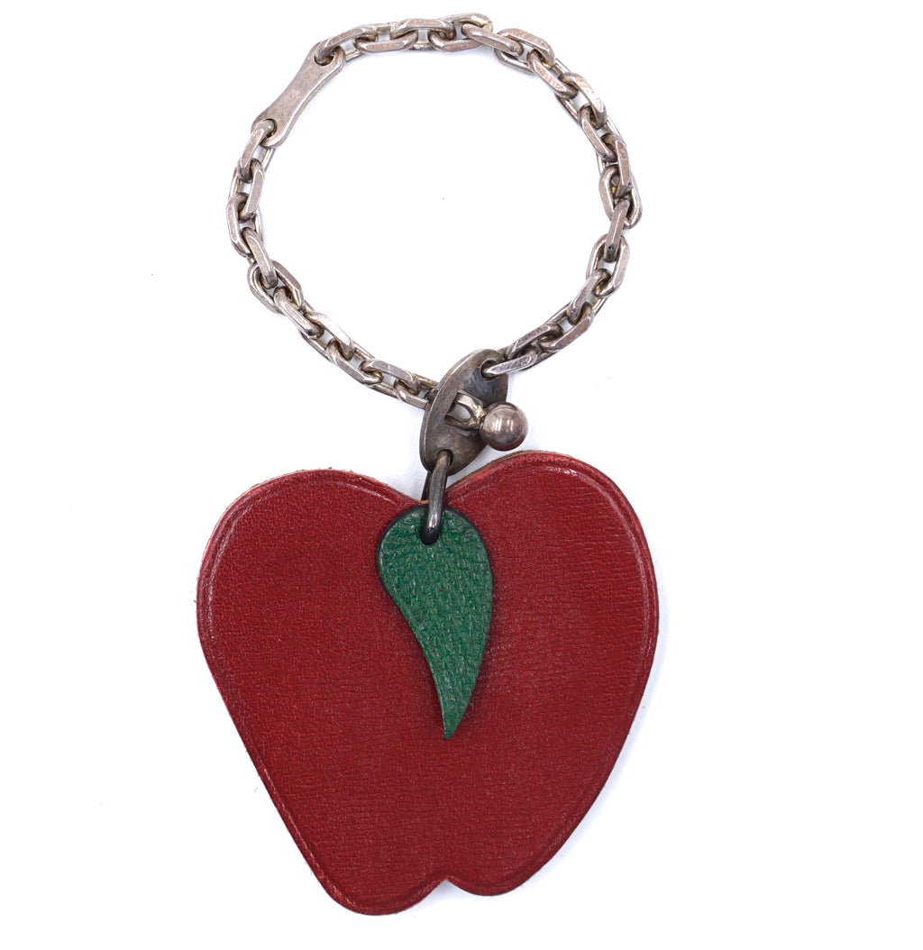 Hermès Apple Red Green Silver 925 Charm