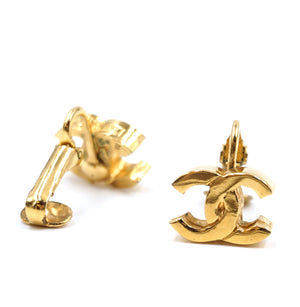Chanel Gold Classic CC Clip On Earrings