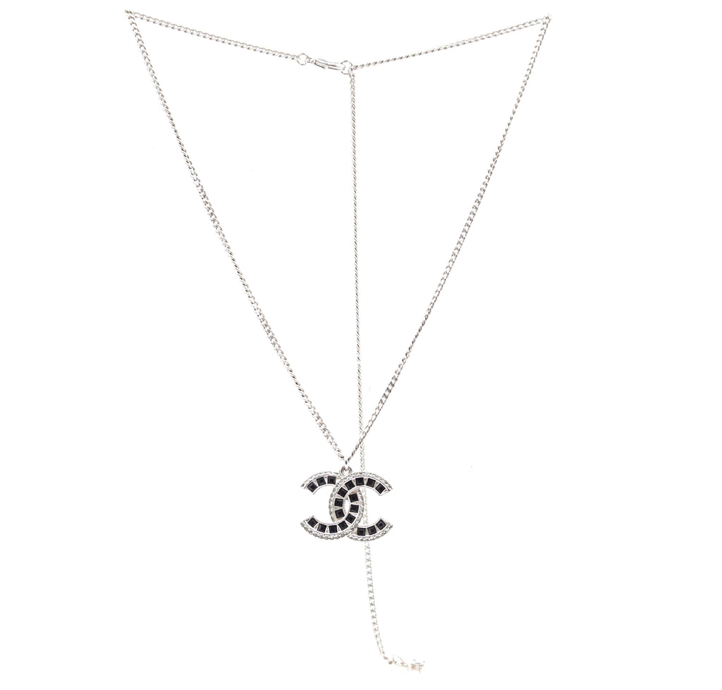 Chanel Timeless CC Baguette Crystals Necklace