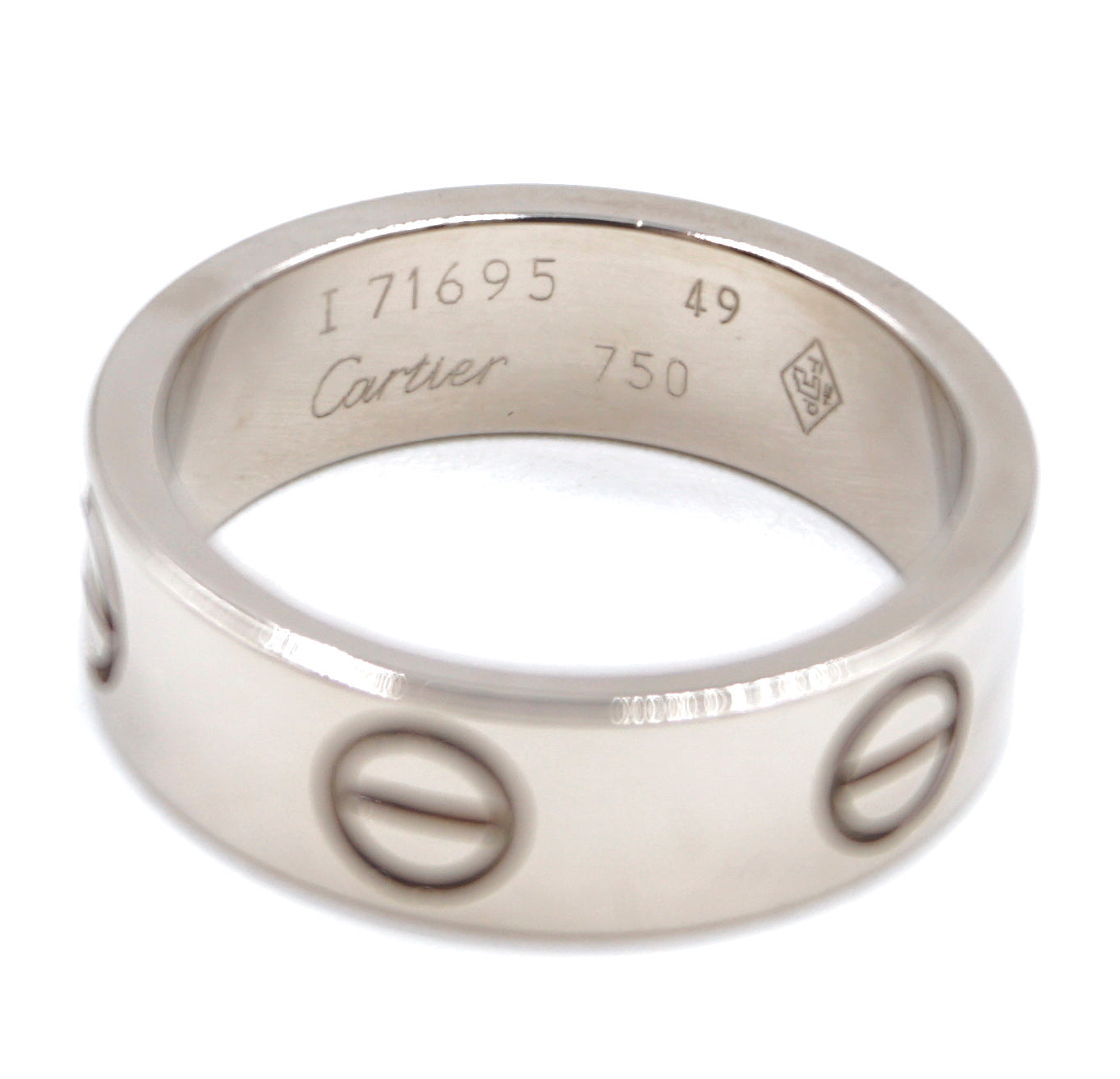 Cartier White Gold 18k 750 Love Ring Size 49