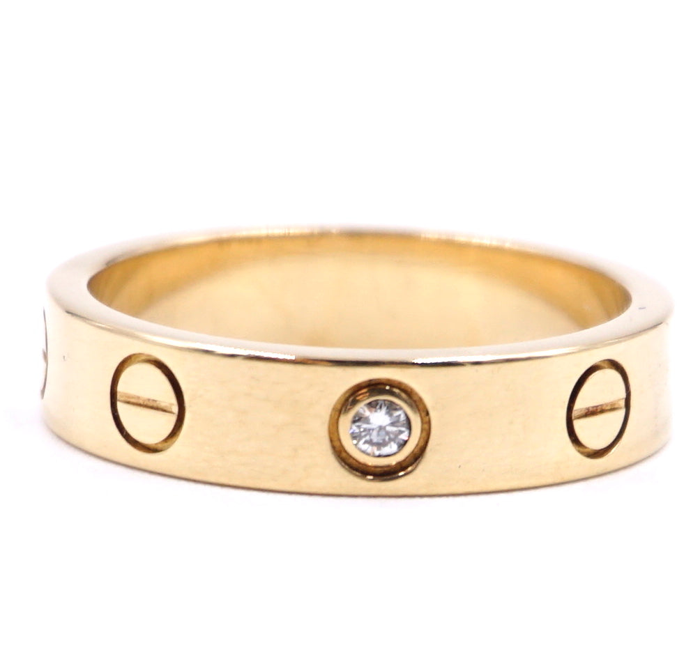 Cartier 18k 750 1P Diamond Love Ring Size 49