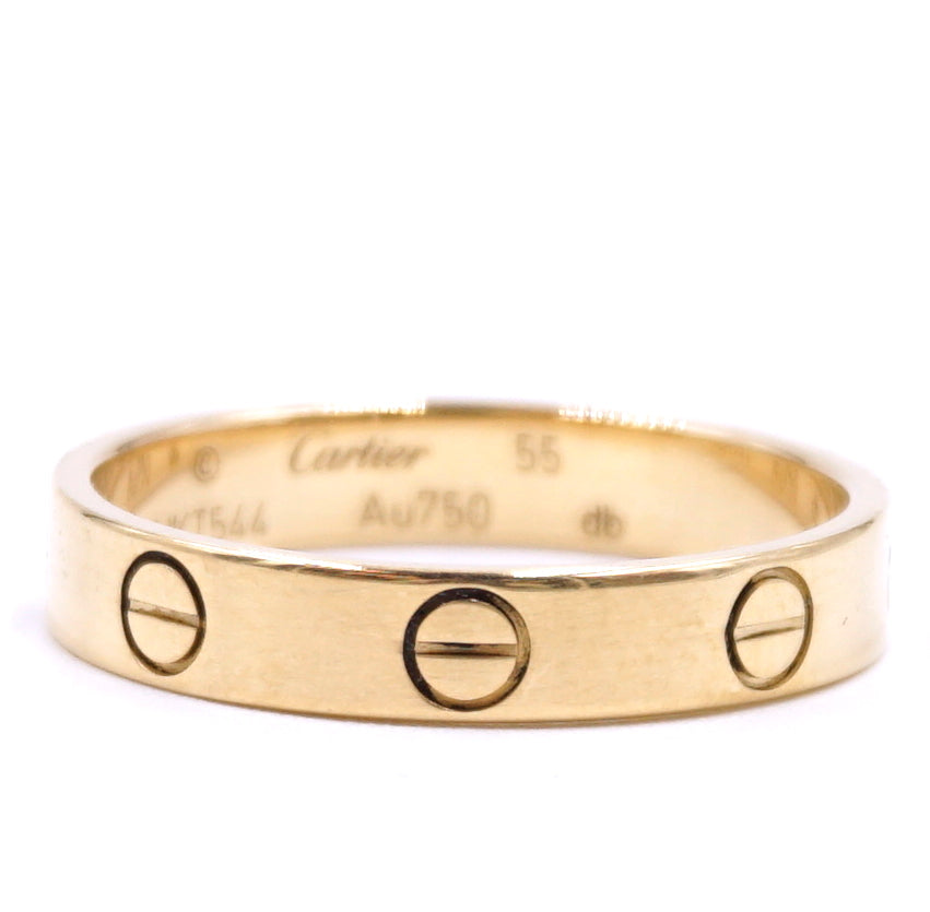 Cartier Rose Gold 18k 750 Love Band Size 55