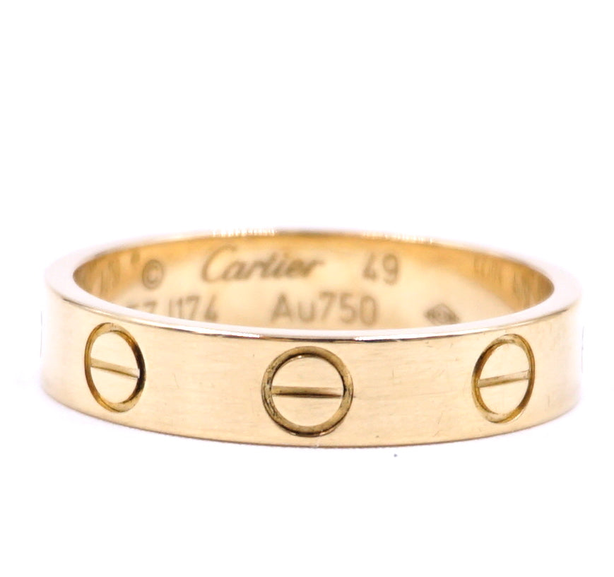 Cartier Rose Gold 18k 750 Love Band Size 49