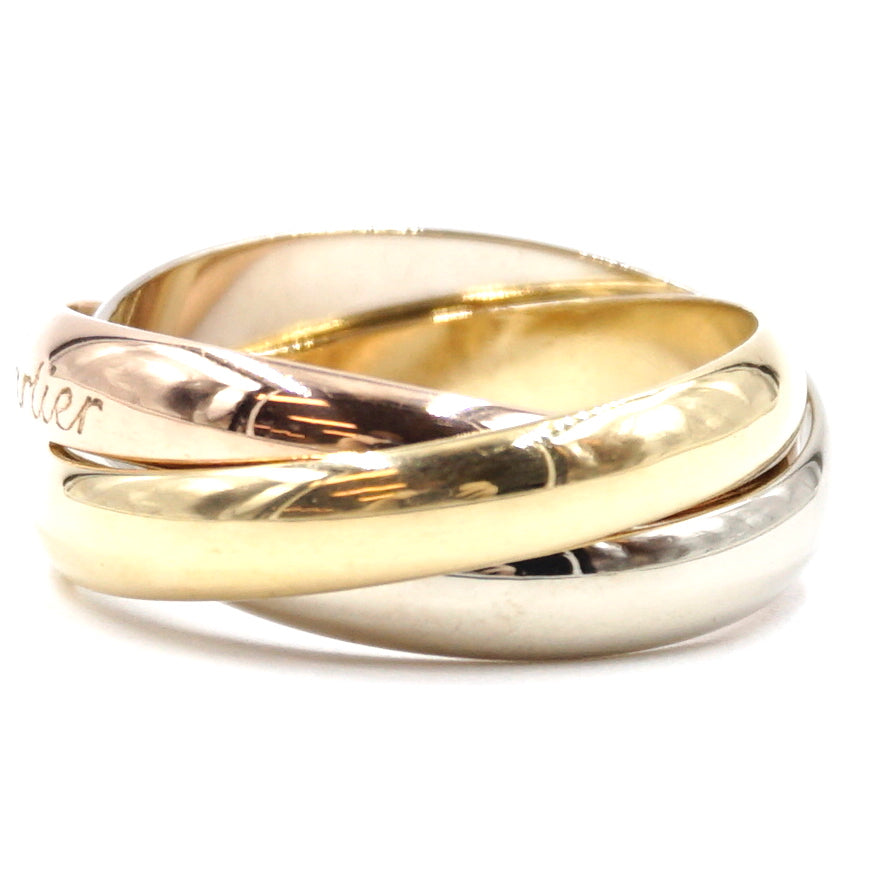 Cartier Tricolor 18k Trinity Ring Size 54