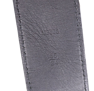 Louis Vuitton Damier Graphite 40mm LV Initials Belt Size 85/34