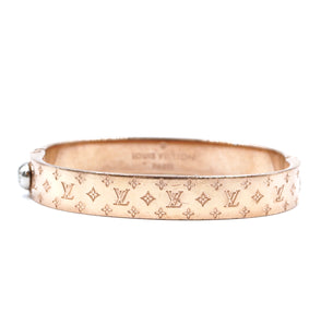 Louis Vuitton Rose Gold Monogram Hardware Bangle Size S