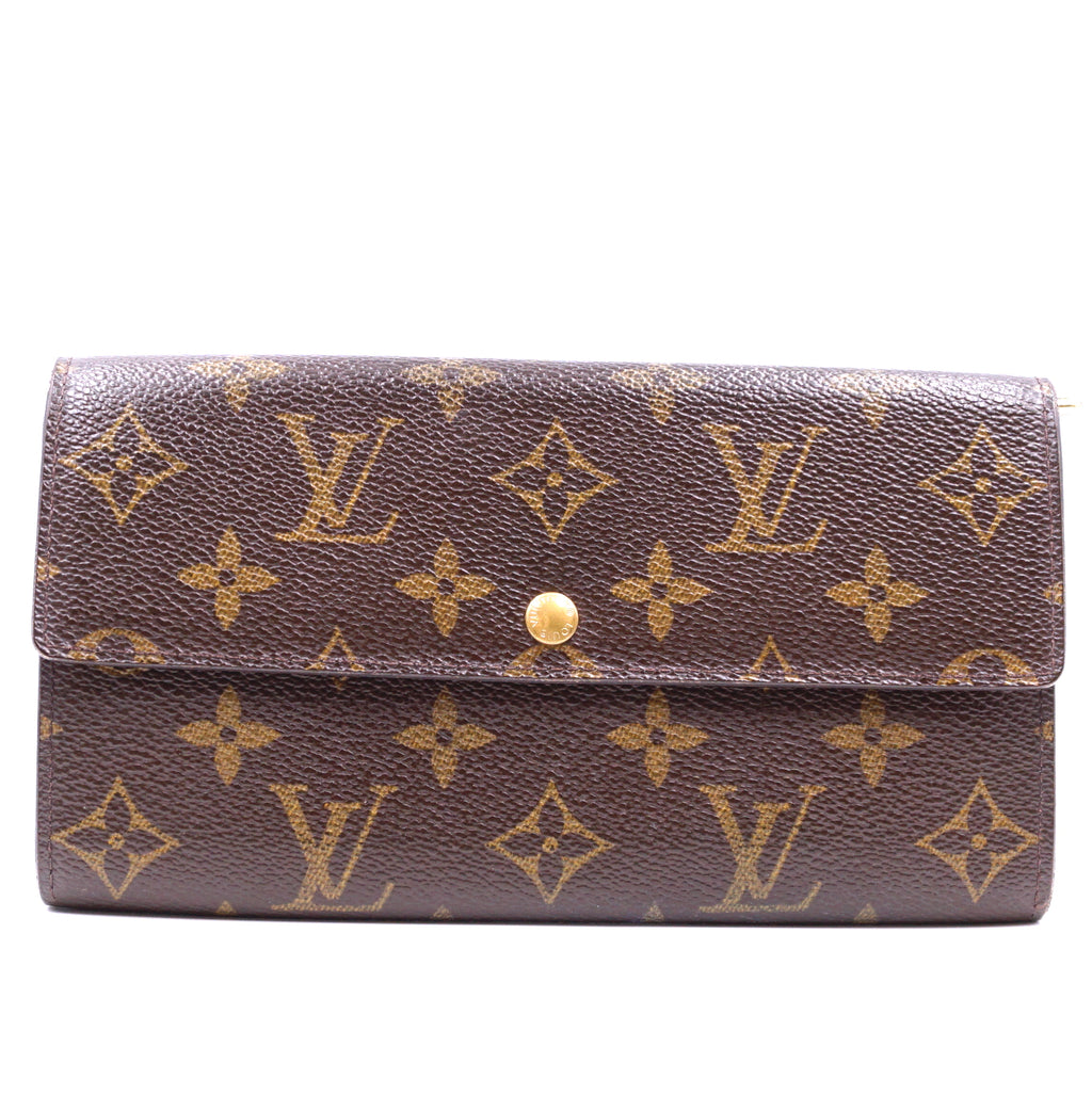 Louis Vuitton Monogram Sarah Flap Long Wallet