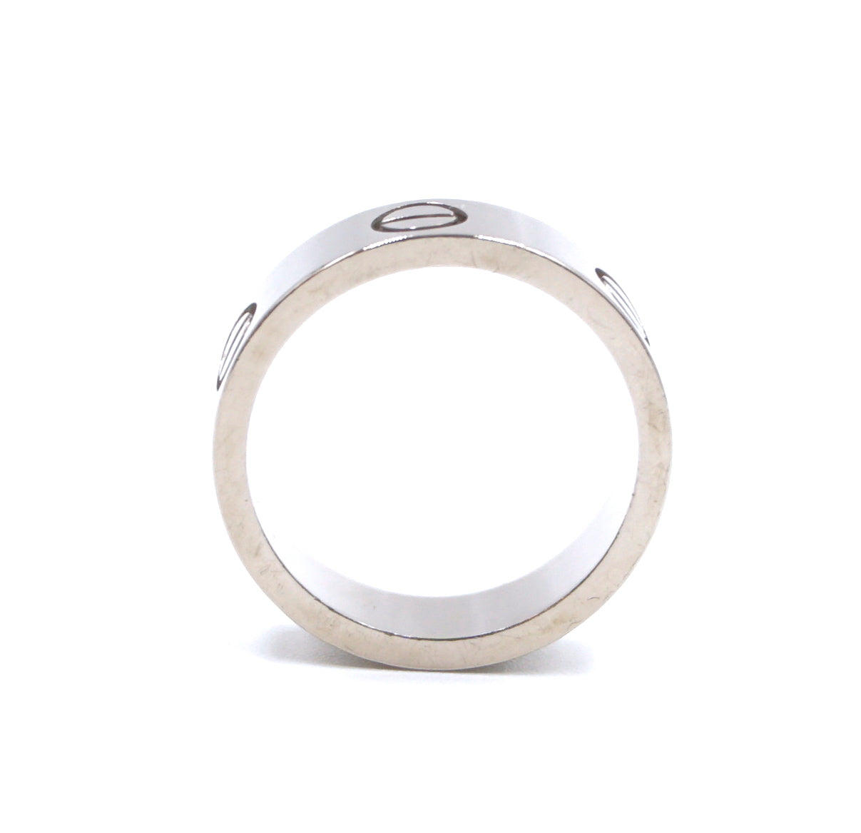Cartier White Gold 18k 750 Size 51 Love Ring