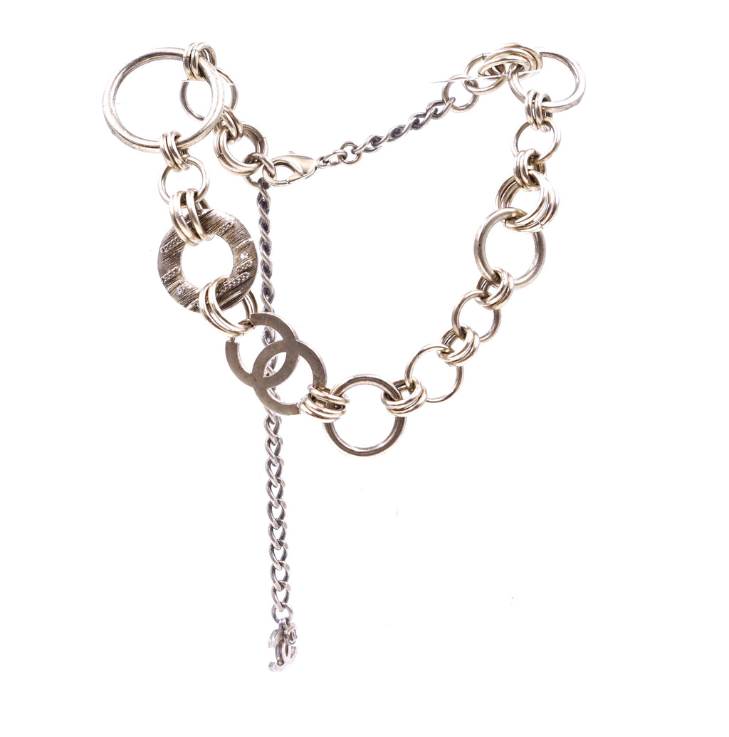 Chanel CC Wide Chains Rings Charm Crystals Choker