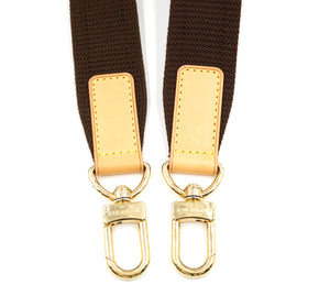 Louis Vuitton Brown Fabric and Leather Shoulder Strap