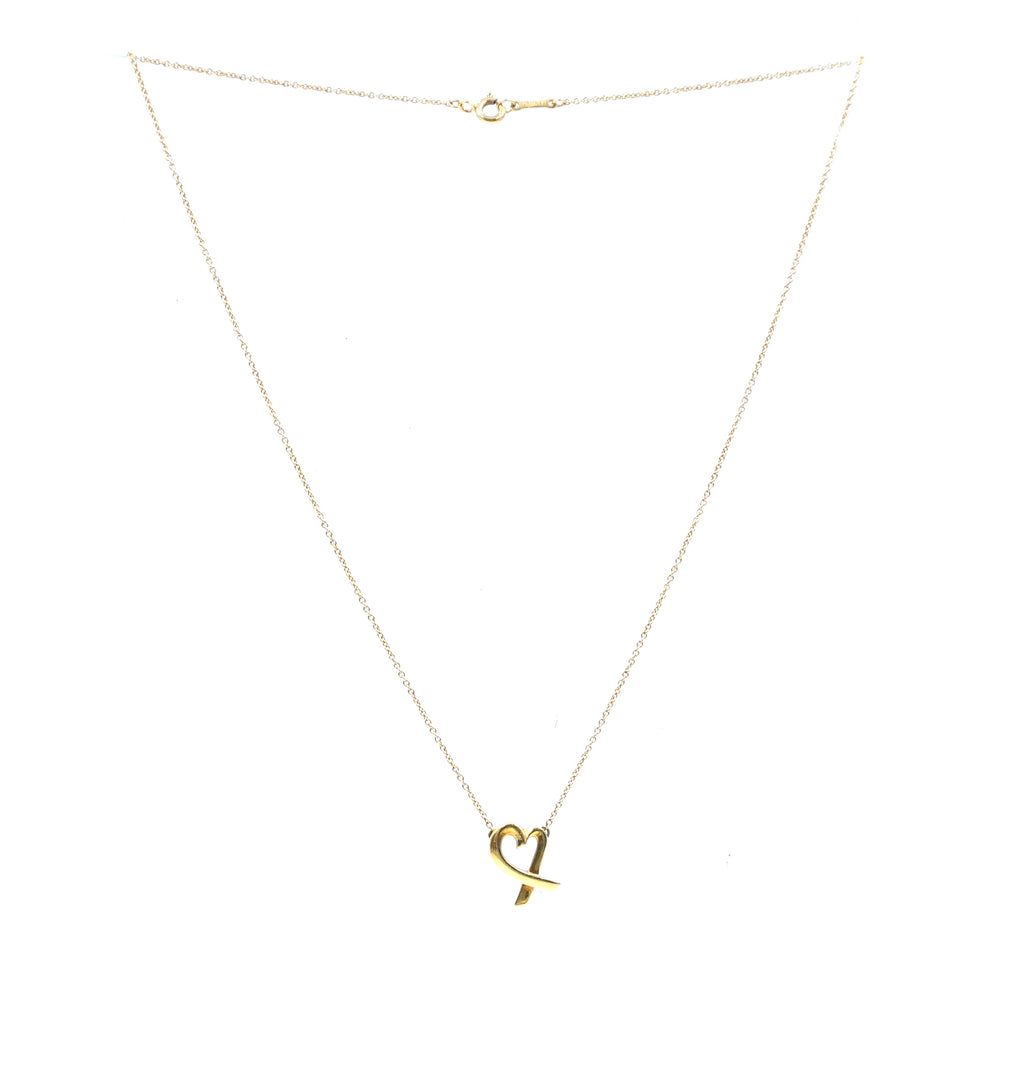 Tiffany & Co. Yellow Gold Paloma Picasso Loving Heart 18k 750 Necklace
