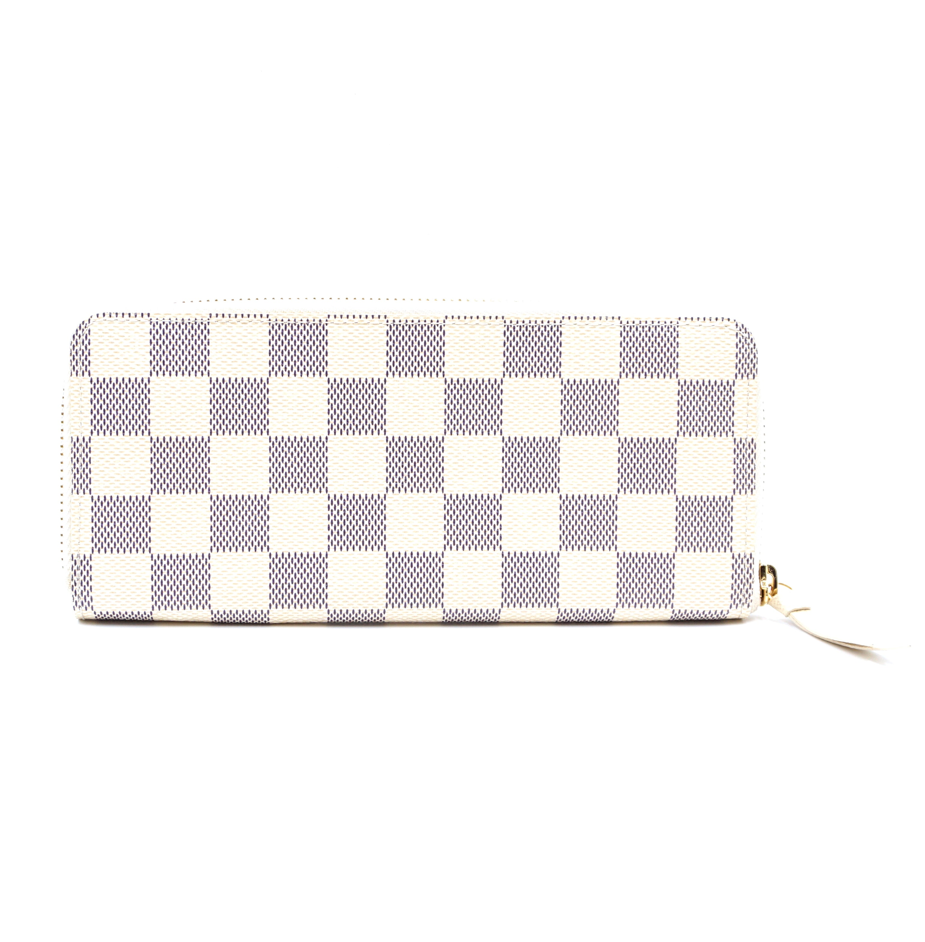 Louis Vuitton Clemence Zip Around Damier Azur Wallet