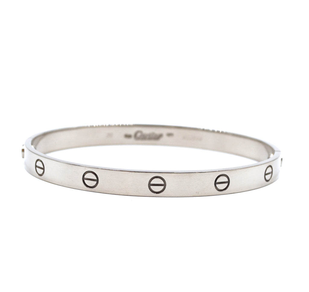 Cartier 750 18k Love Bangle With Screw System Size 20