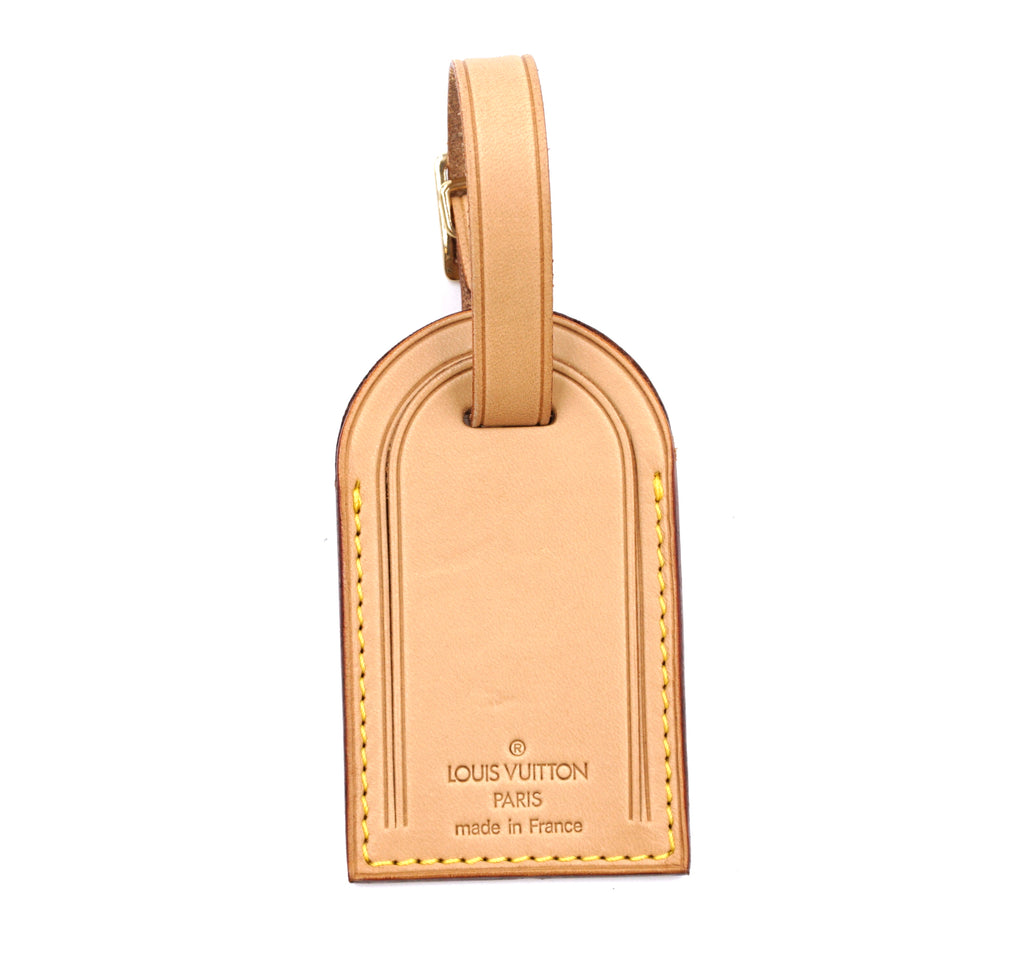 Louis Vuitton Natural Leather Luggage Tag