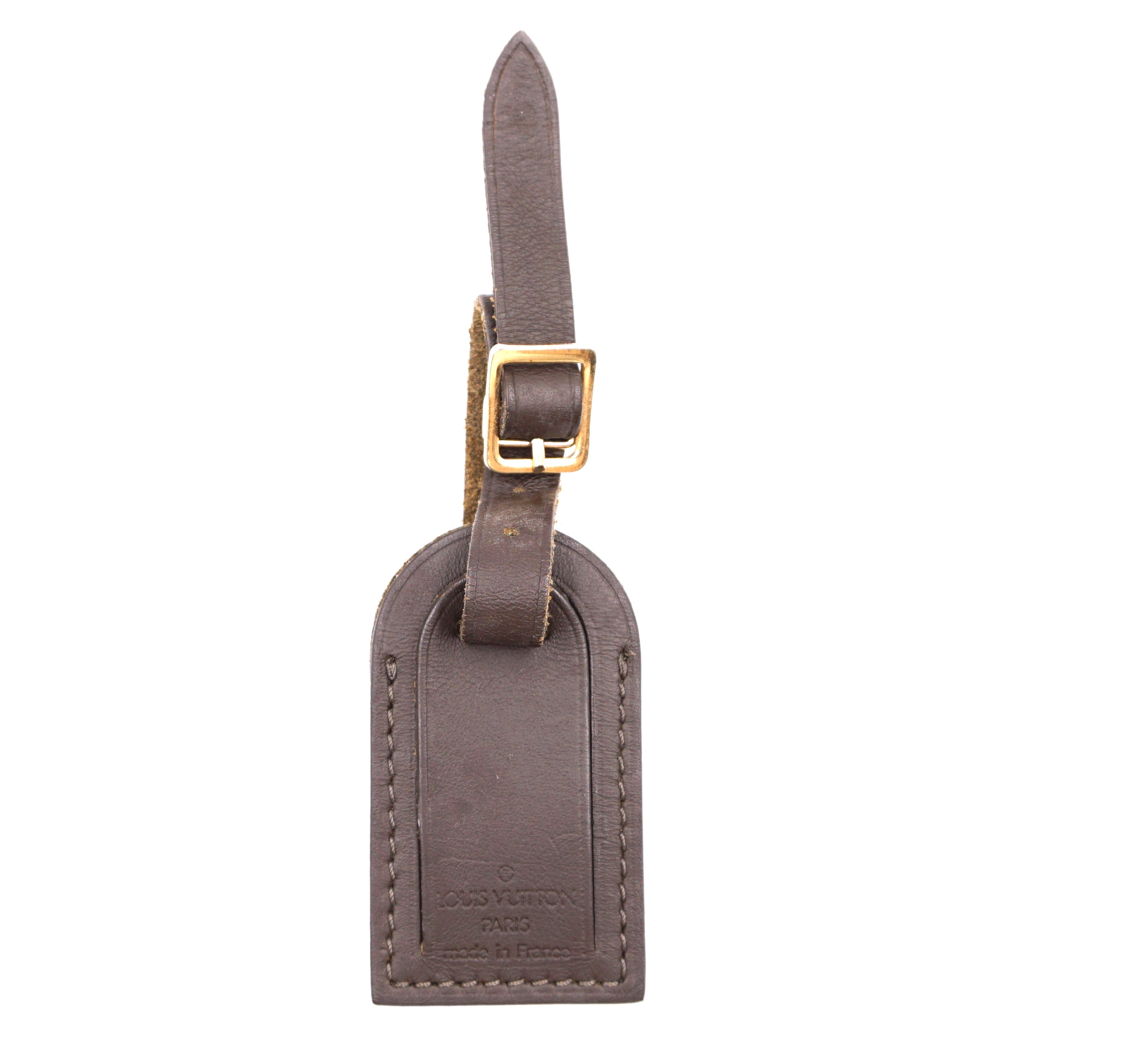 Louis Vuitton Brown Small Smooth Calf Leather Luggage Tag