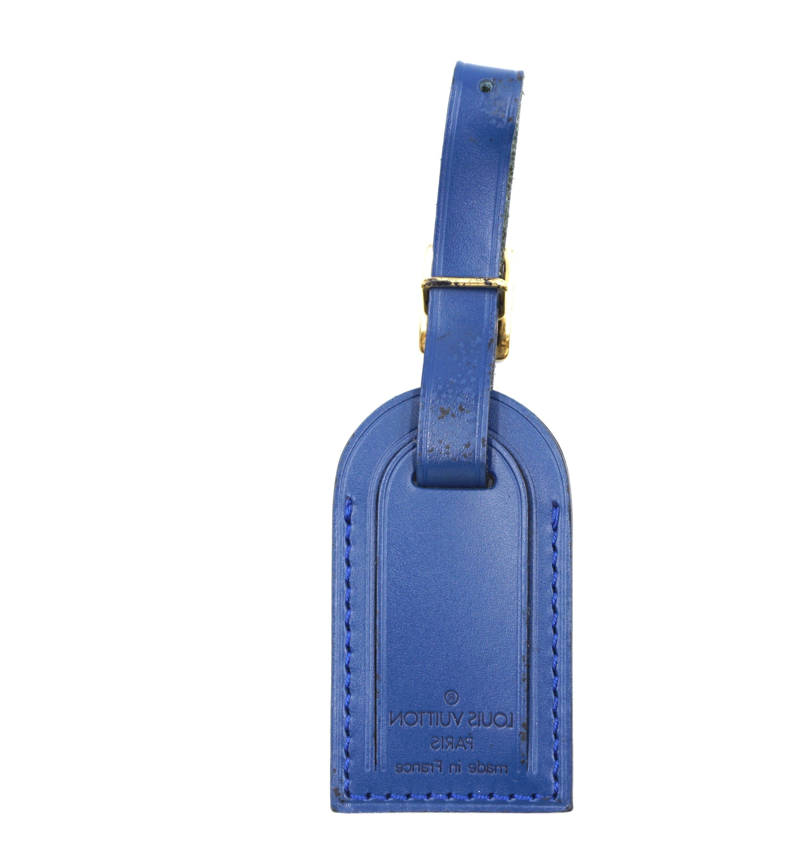 Louis Vuitton Blue Small Smooth Calf Leather Luggage Tag