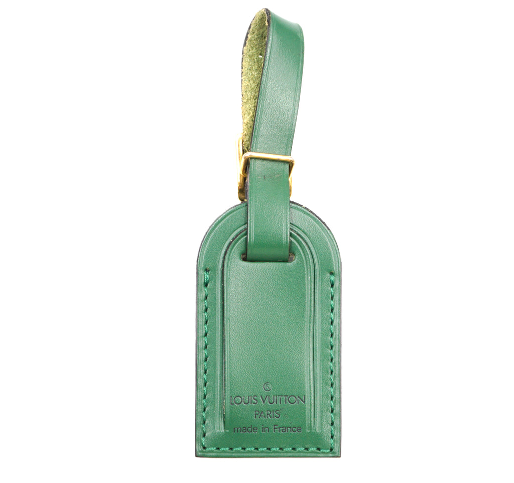 Louis Vuitton Green Small Smooth Calf Leather Luggage Tag