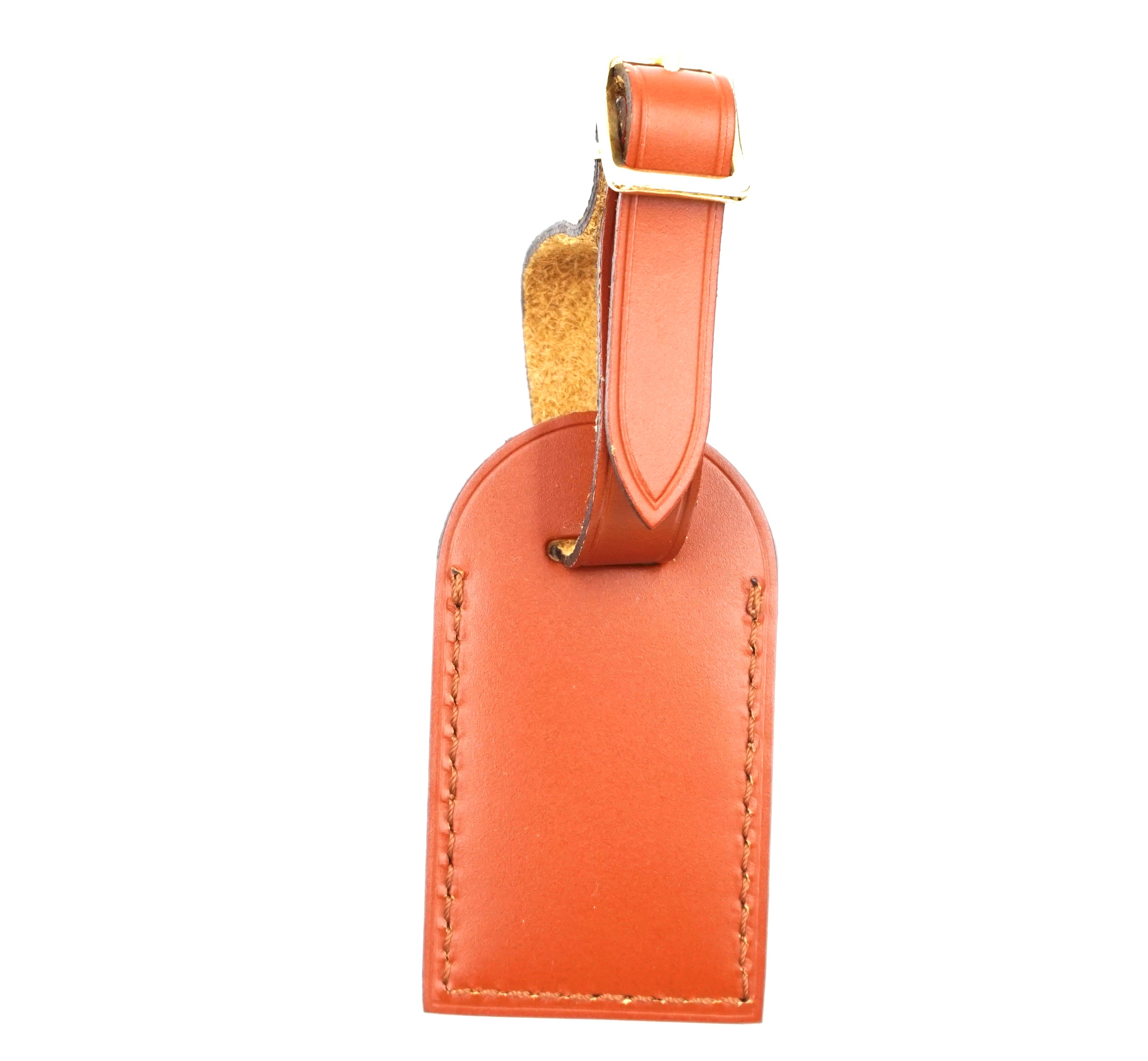 Louis Vuitton Fawn Small Smooth Calf Leather Luggage Tag