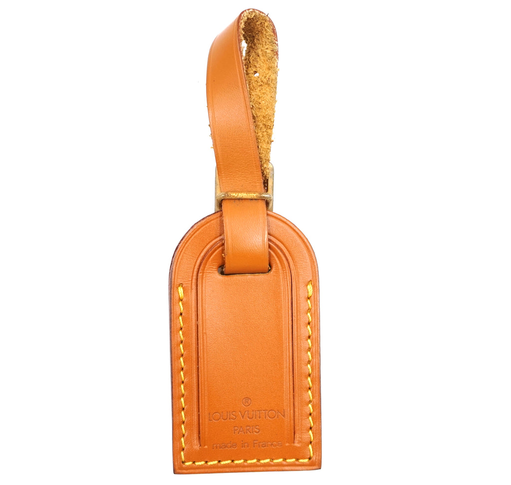 Louis Vuitton Cipano Gold Small Smooth Calf Leather Luggage Tag