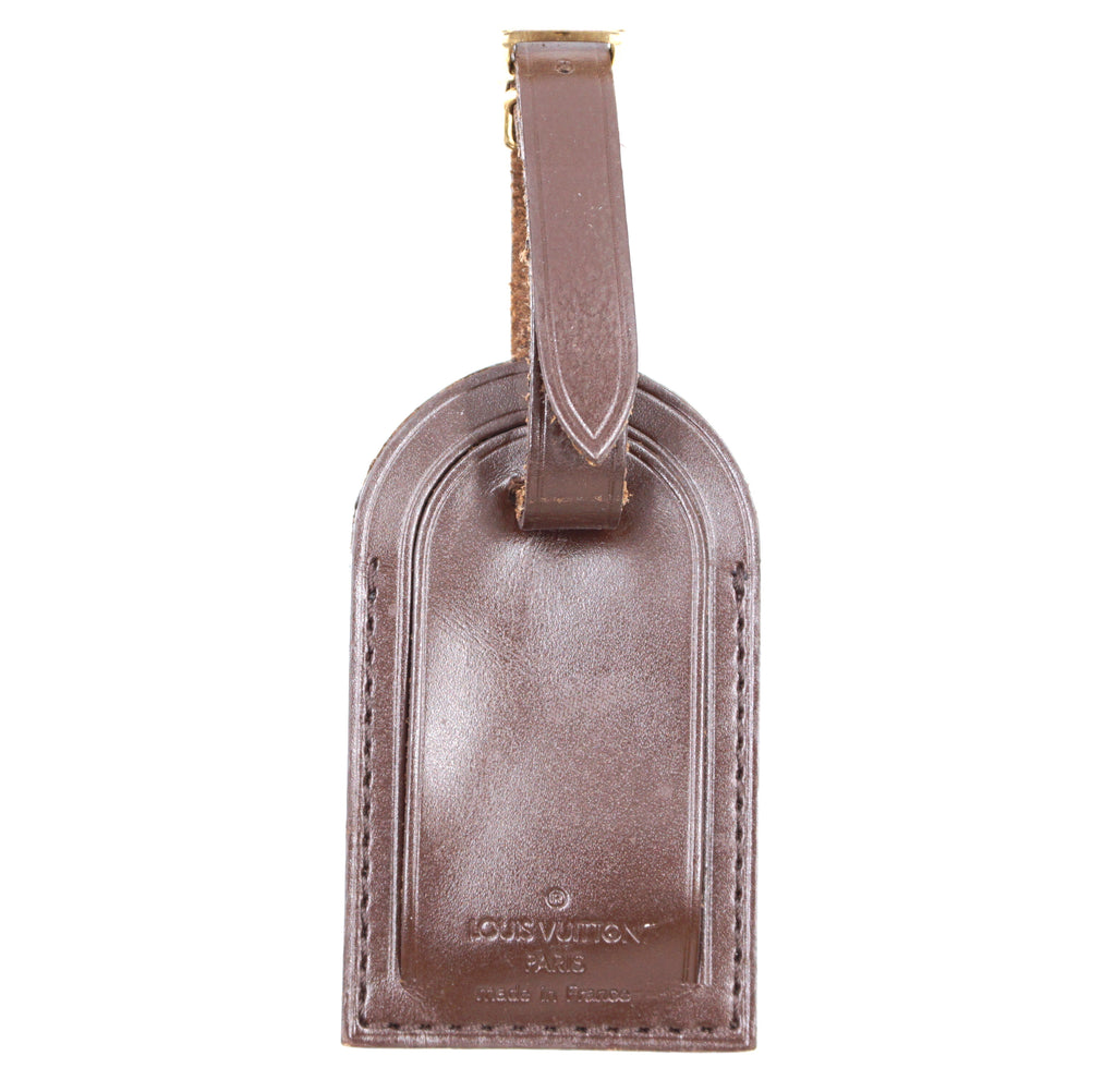 Louis Vuitton Brown Smooth Calf Leather Luggage Tag