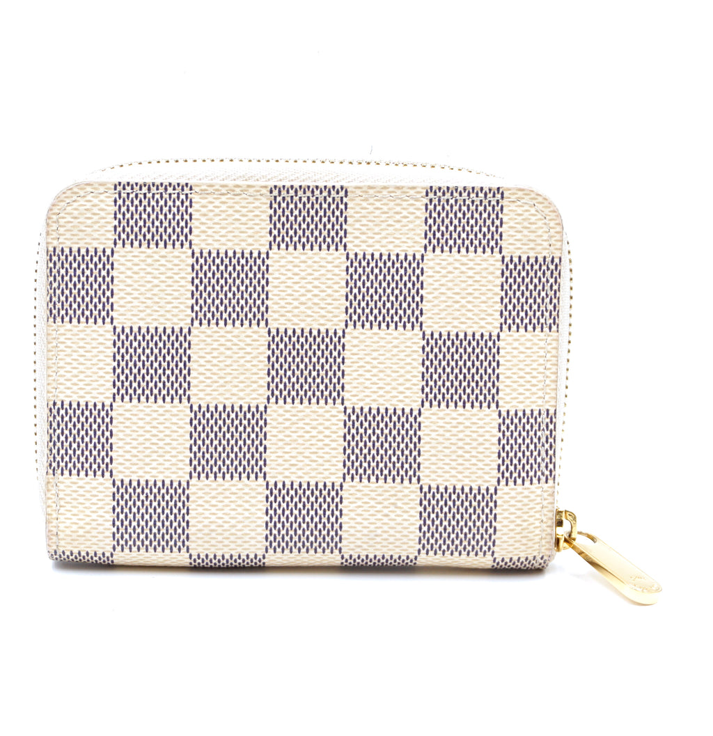 Louis Vuitton Damier Azur Square Zip Around Card Wallet