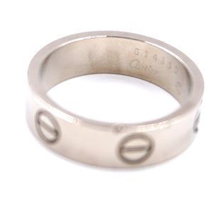 Cartier 18k 750 White Gold Love Ring Size 56