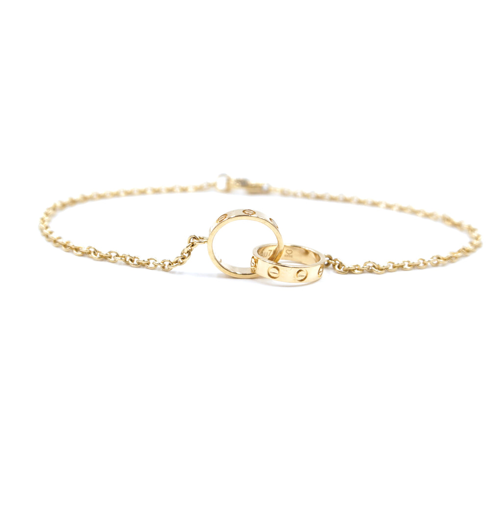 Cartier 18k 750 Love Double Mini Ring Bracelet