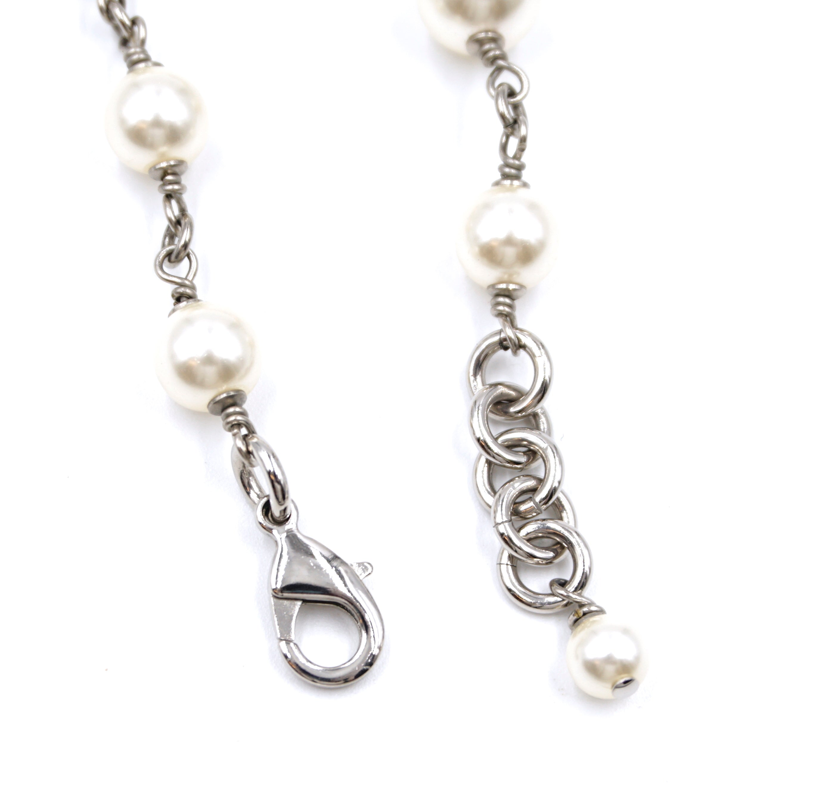 Chanel Pearls CC Crystals Single Double Strand Necklace