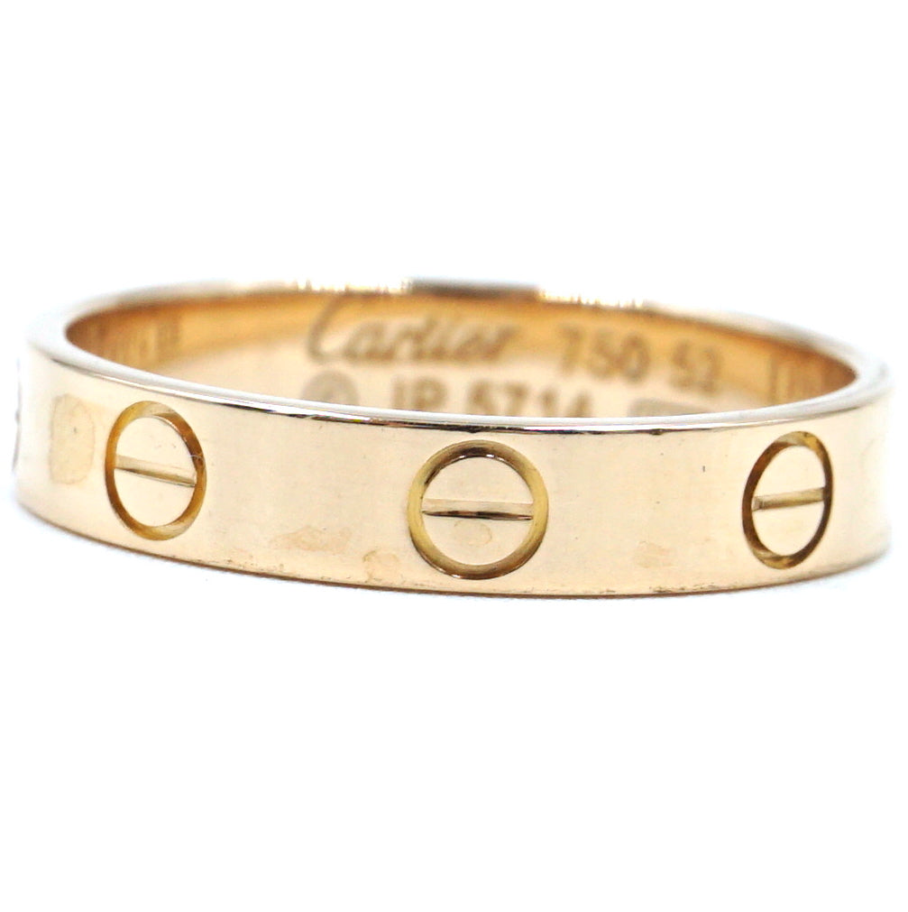 Cartier 18k 750 Love Band Size 52