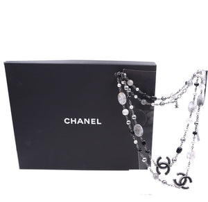 Chanel Multicolor CC Beads Marbles Single Double Strand Necklace