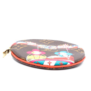 Louis Vuitton Monogram Multicolors Vivienne Round Coin Case