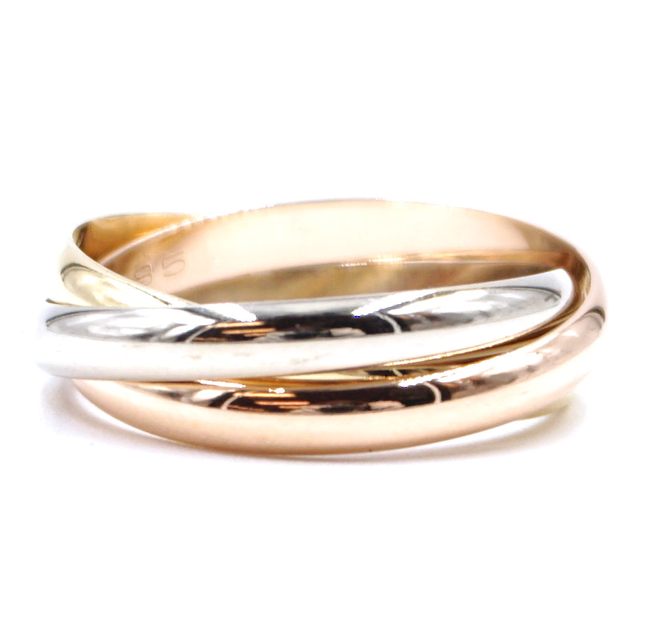 Cartier Tricolor 18k 750 Trinity Size 52 6 Ring